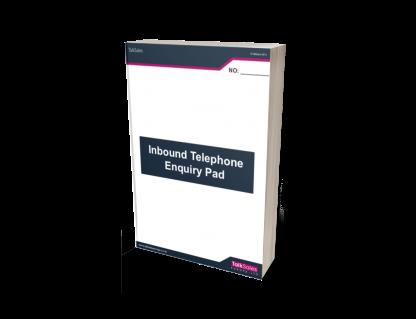 Inbound Talksales Telephone Enquiry Pad